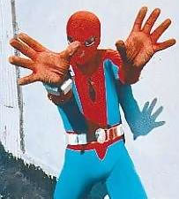Spiderman El Caspas no quiere fotos!