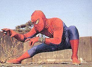 Supaida-Man en una pose de cágate lorito
