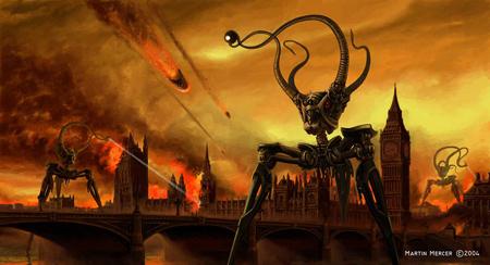 Concept Martian-War-Machine over London