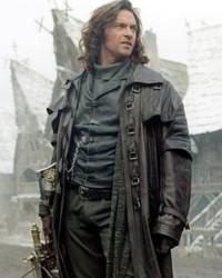 Hugh Jackman caracterizado com Abraham Van Helsing