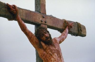 Detalle escabroso de la crucifixión