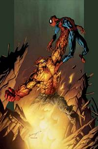Ultimate Hobgoblin machacando a Spidey