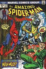Portada de Amazing Spiderman 124 con Man-Wolf