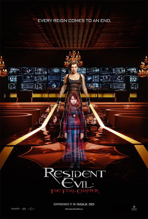 Cartel para IMAX de Resident Evil: Capítulo Final