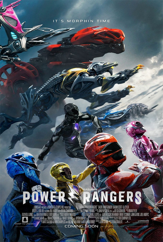 Nuevo cartel de los Power Rangers repleto de Zords