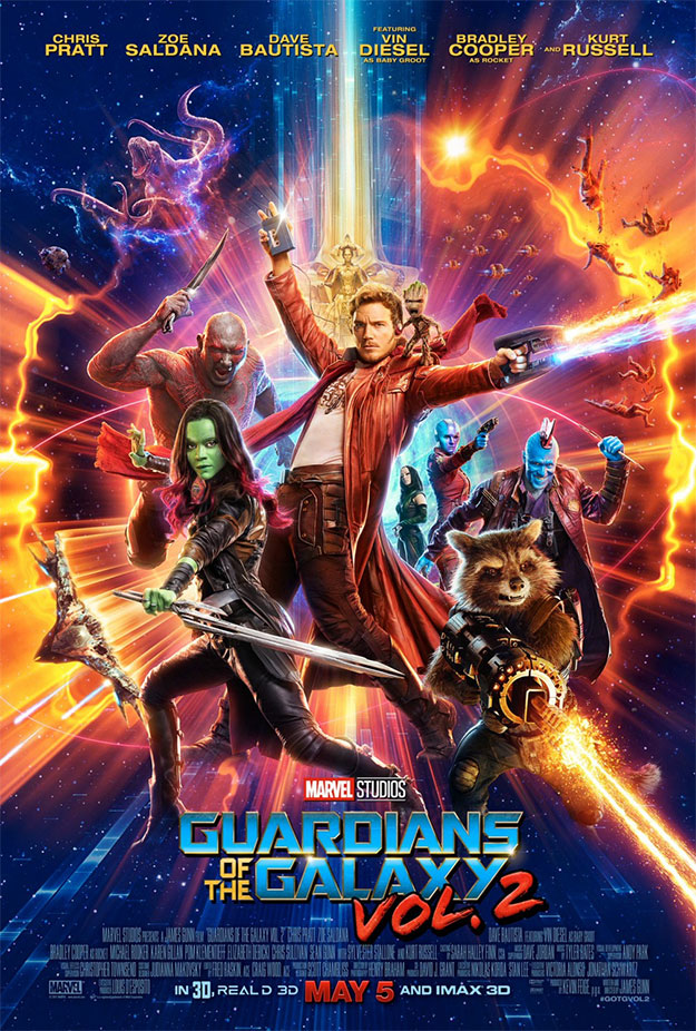 El cartel de Guardianes de la Galaxia Vol. 2 es un despiporre de color