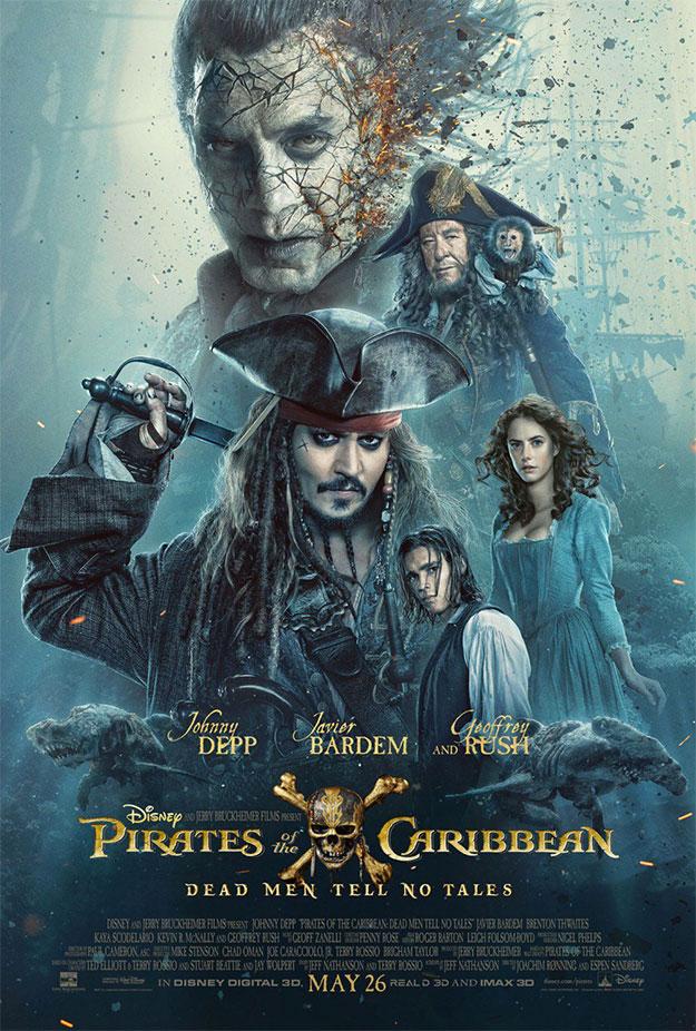 Nuevo cartel de Piratas del Caribe: La venganza de Salazar