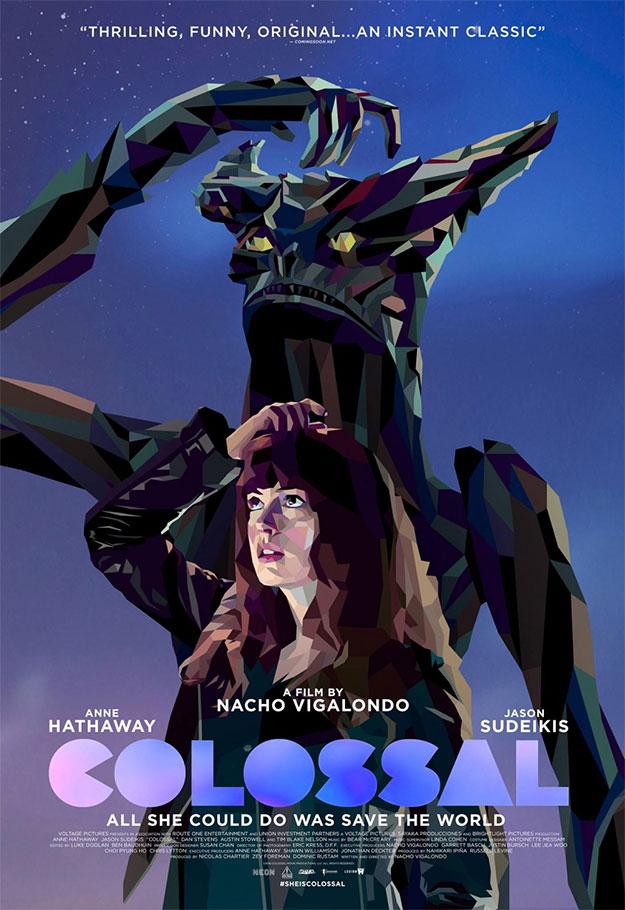 Precioso cartel de Colossal de Nacho Vigalondo