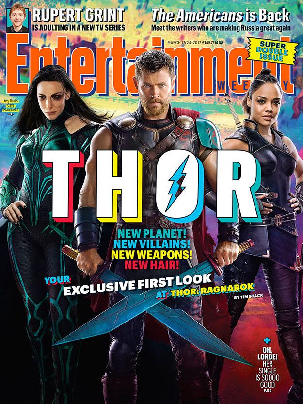 Portada molona de Entertainment Weekly para Thor: Ragnarok