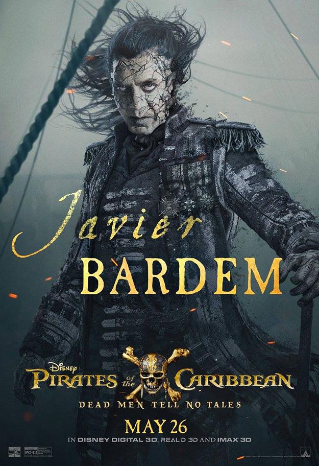 Javier Bardem, el gran villano de Piratas del Caribe: la venganza de Salazar
