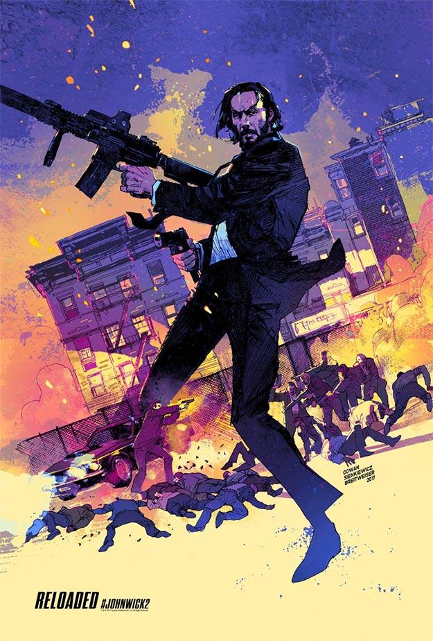 Uno de los carteles de John Wick: Pacto de Sangre, a la altura de la película... joya