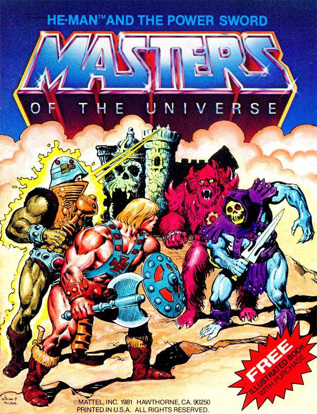 Portada del primer mini-cómic de Masters of the Universe obra del gran Alfredo Alcalá