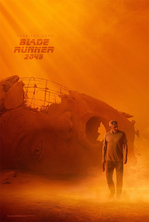Cartel de Blade Runner 2049... Harrison Ford