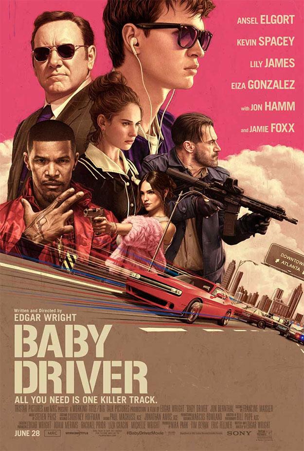 Genial nuevo cartel de Baby Driver