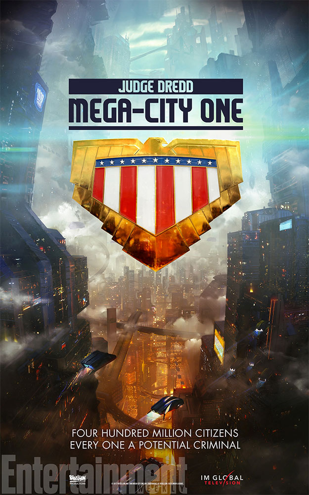 Primer cartel de la futura Judge Dread: Mega-City One