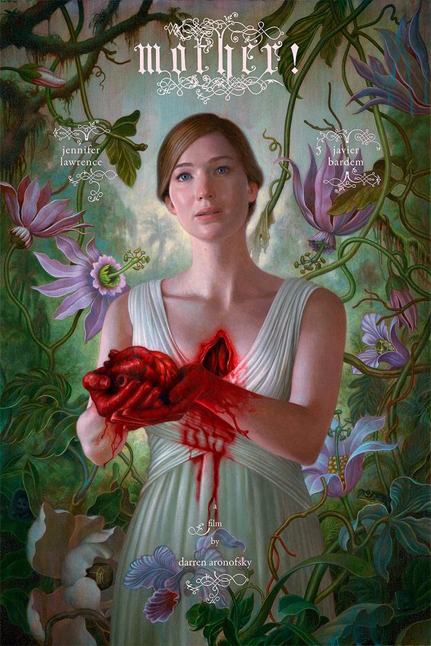 Darren Aronofsky descubre el cartel de Mother!... madre del amor hermoso