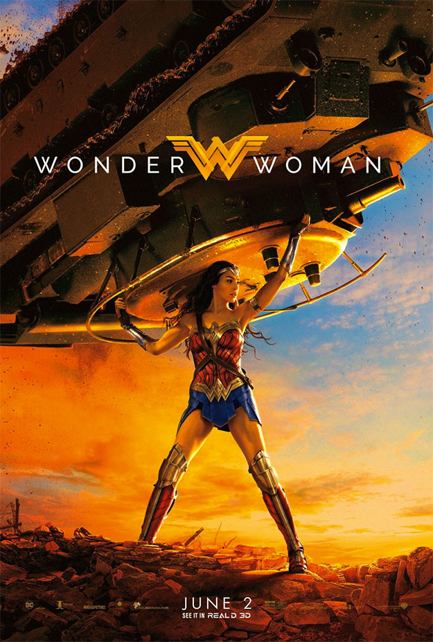 Genial cartel de Wonder Woman