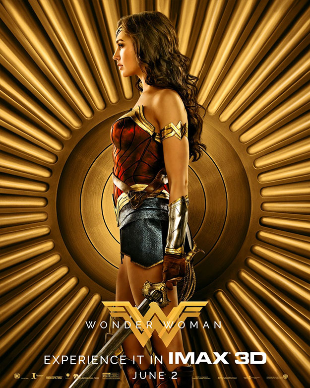 Tres nuevos cartels de Wonder Woman... casi forman un collage