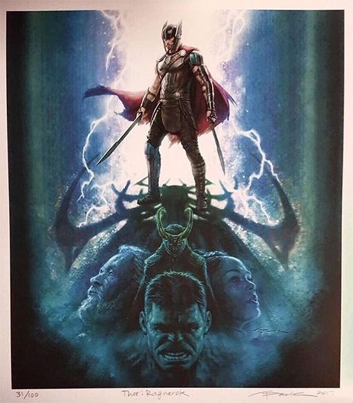 No pinta mal el concept art de Thor: Ragnarok por Andy Park de Marvel Studios