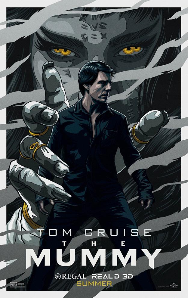 Nuevo cartel de La Momia con Tom Cruise siendo el centro de la acción