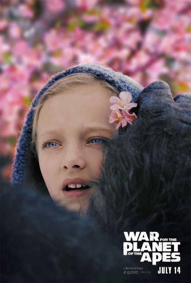 Curioso cartel de La guerra del Planeta de los Simios, inesperado