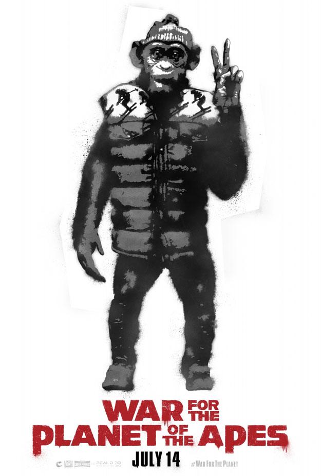 La guerra del Planeta de los Simios, cartelico bonico