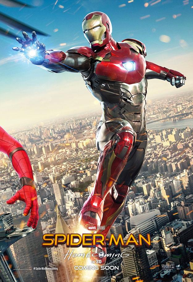 Tres nuevos carteles de Spider-Man: Homecoming que valen para un collage