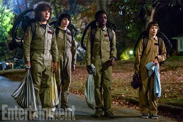 Los cuatro amigos: Gaten Matarazzo, Finn Wolfhard, Caleb McLaughin y Noah Schnapp