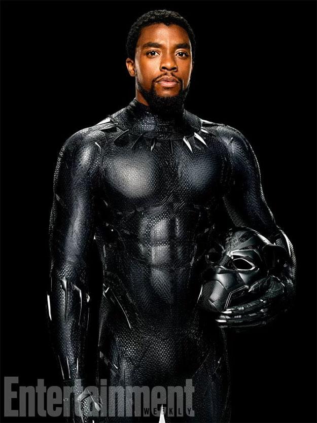 Chadwick Boseman es T'Challa AKA Black Panther