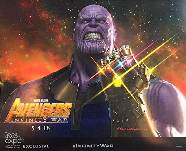 Póster de Vengadores: La Guerra del Infinito que daban obra de Ryan Meinerding