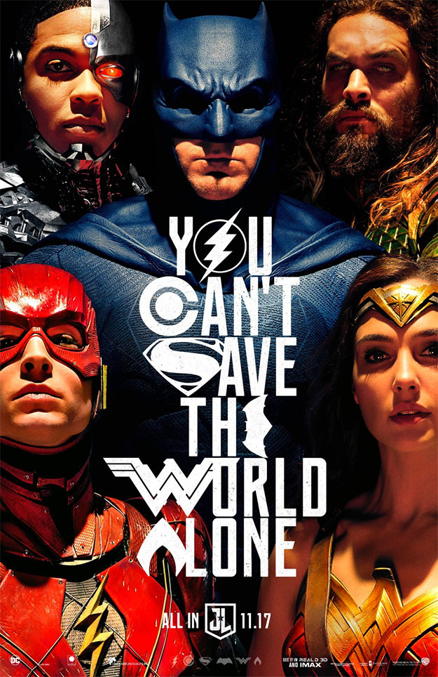 El magistral cartel de Liga de la Justicia presentado en la Comic-Con 2017