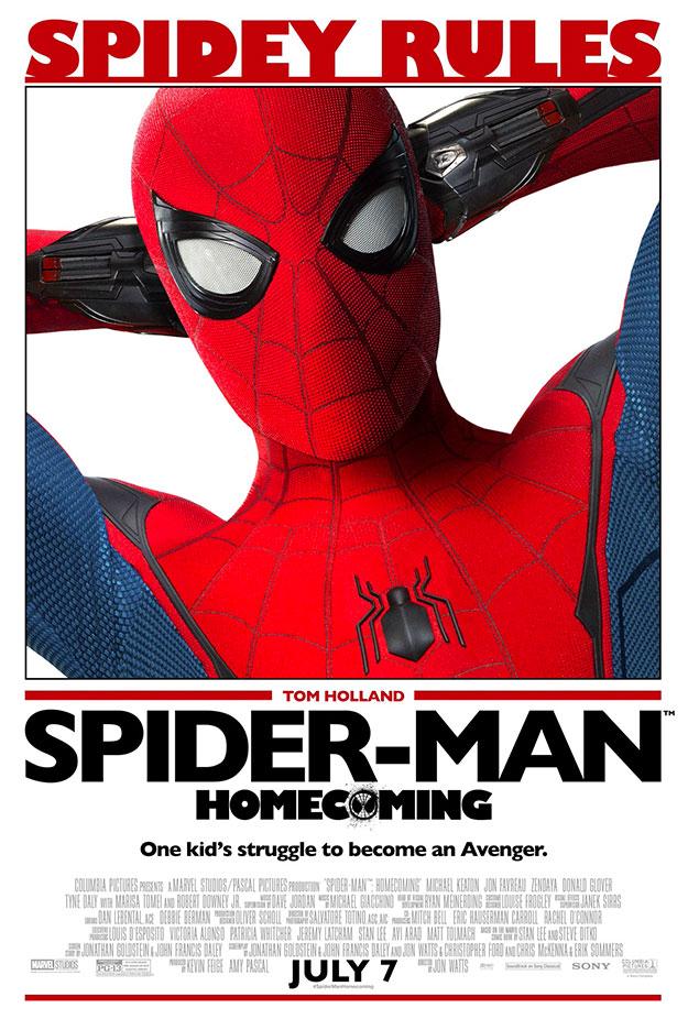 Simpático cartel de Spider-Man: Homecoming a lo Todo en un día