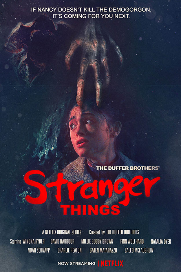 "Genial cartel de la segunda temporada de ""Stranger Things"""