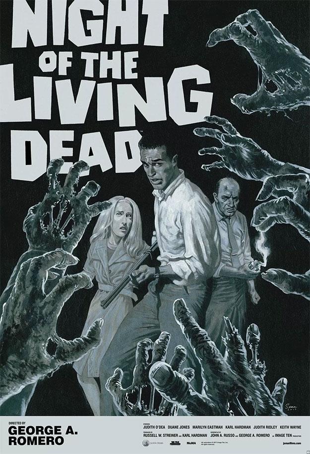 Cartel de la edición 4K de La Noche de los Muertos Vivientes
