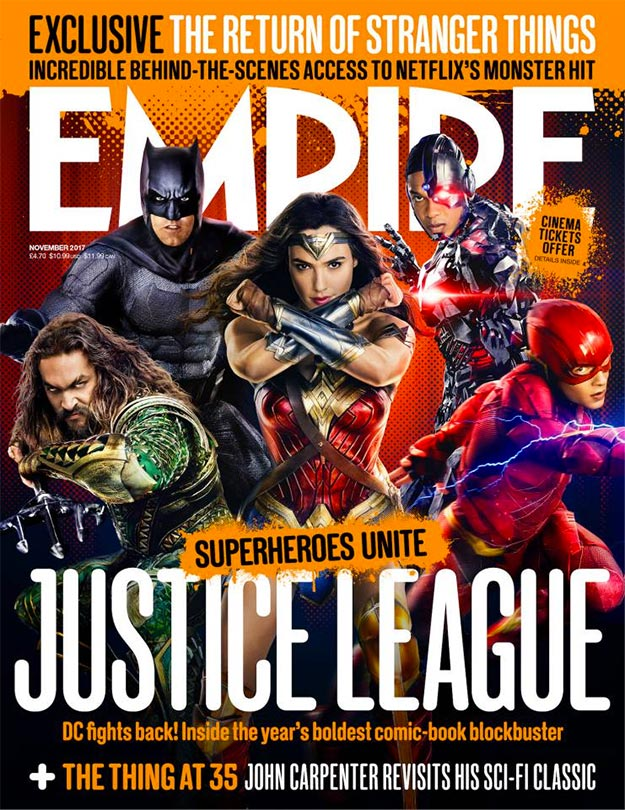 Portada de Empire dedicada a la Liga de las Justicia