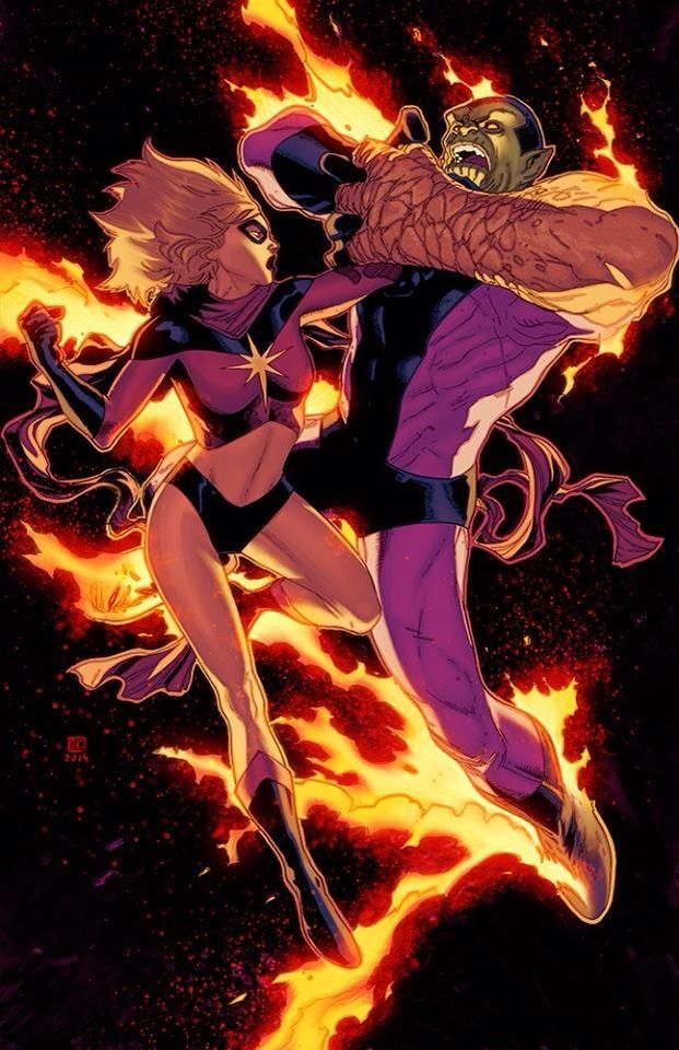 Captain Marvel vs. Super Skrulls