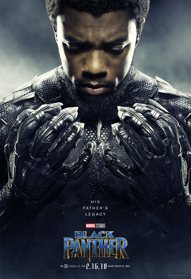Uno de los once carteles de hoy para Black Panther... mira que uñas...