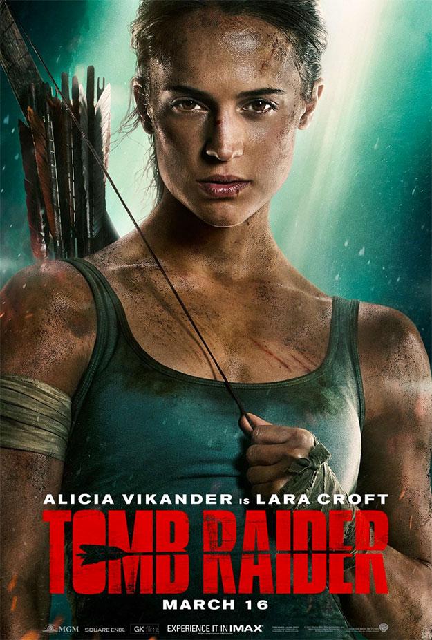 Otro cartel de Tomb Raider con Alicia Vikander como única y global protagonista, no existe nadie más