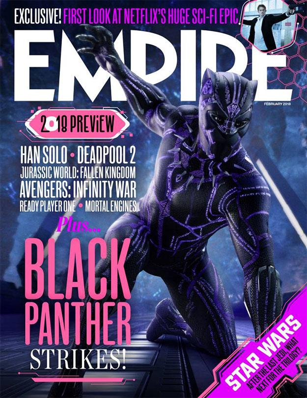 Las dos portadas de Empire para Black Panther. Pues qué queréis que os diga... ni fu ni fa