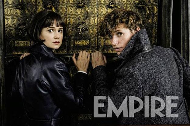 Eddie Redmayne y Katherine Waterson como Newt Scamander y su querida Tina Goldstein