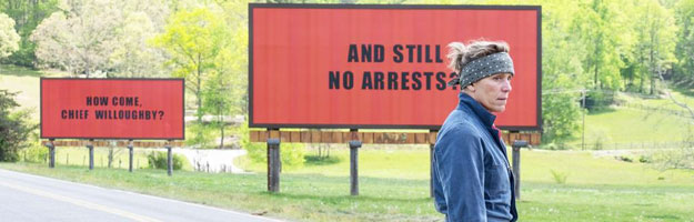 Tres anuncios en las afueras (Three Billboards Outside Ebbing, Missouri) de Martin McDonagh