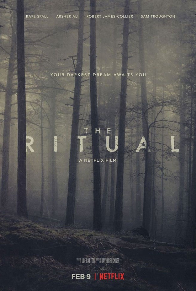 Cartel final de The Ritual, estreno en Netflix