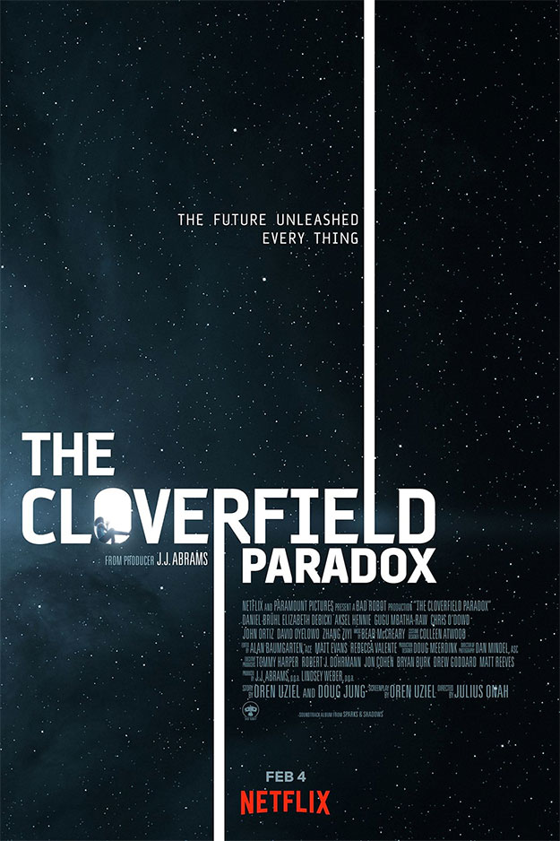 El primer cartel de The Cloverfield Paradox, fin