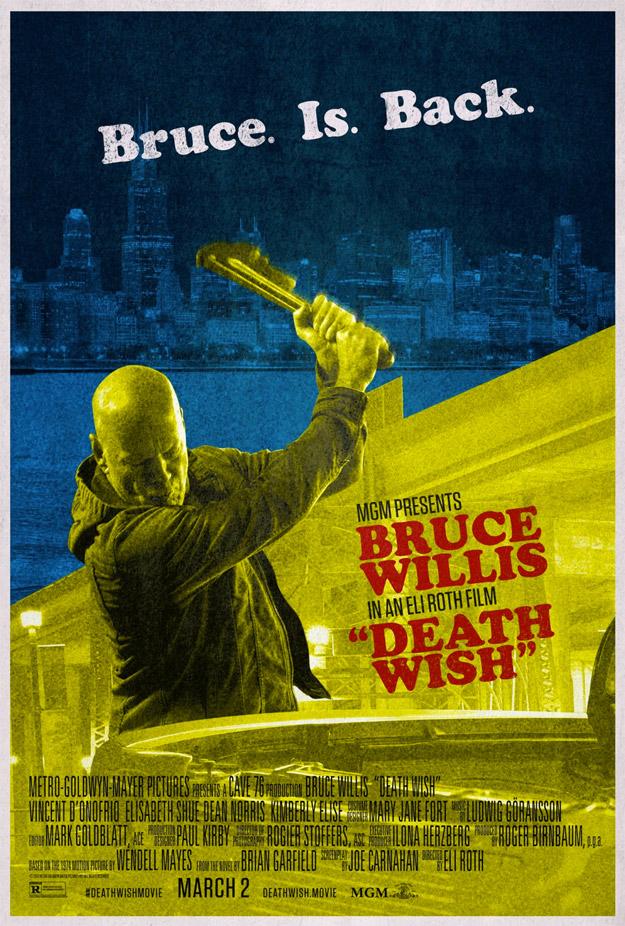 Curioso cartel retro de Death Wish de Eli Roth... que poco espero de ella