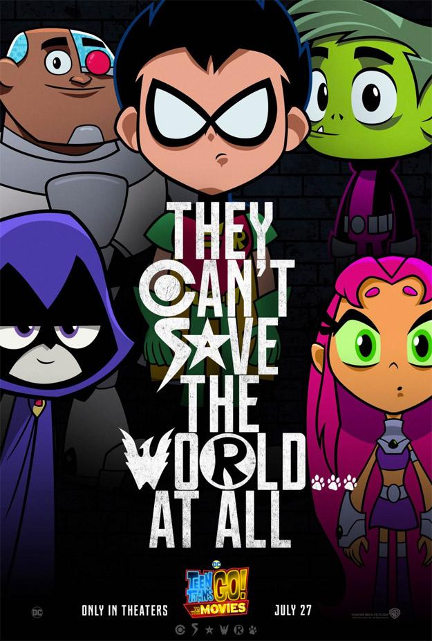 Simpático artel de Teen Titans Go! to the Movies, pariodando a sus hermanos mayores