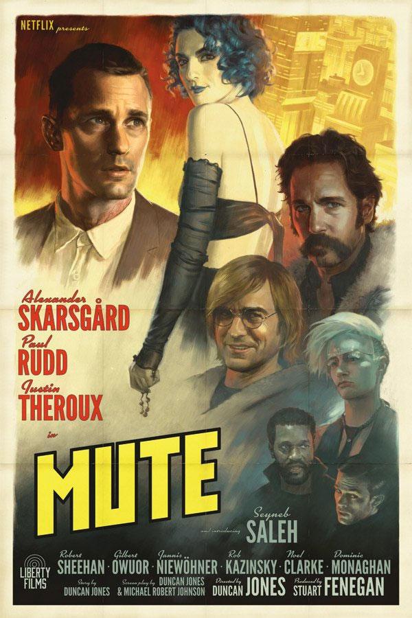 Cartel fanmade de Mute de Duncan Jones... mola, la película no