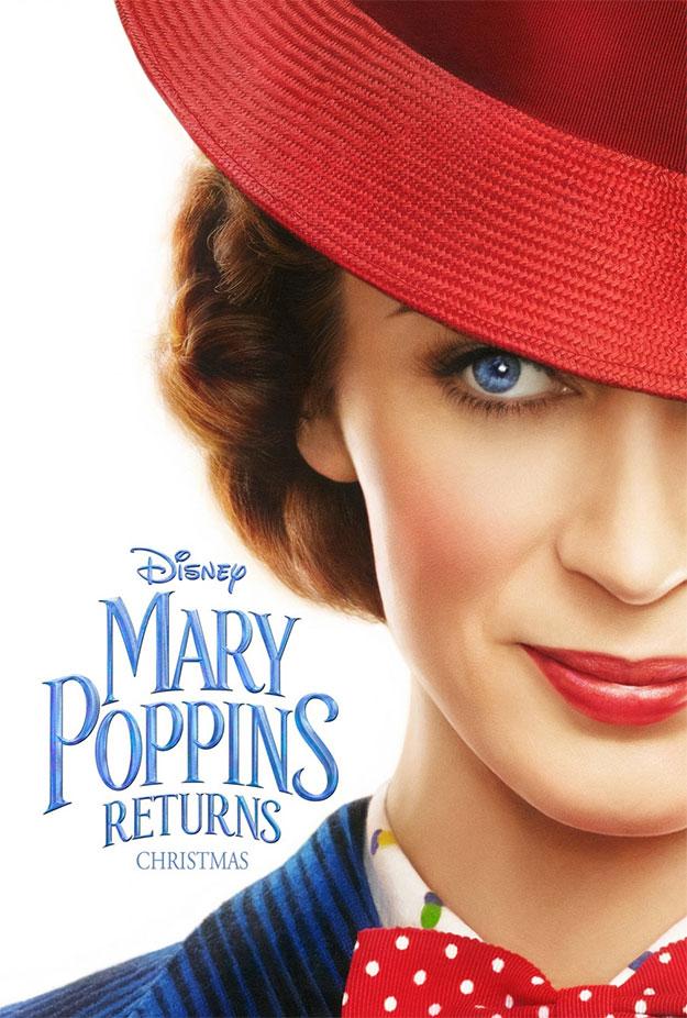 Primer cartel de Mary Poppins Returns con Emily Blunt como la nueva Julie Andrews