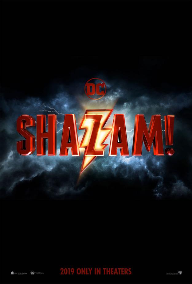 El primer cartel de Shazam! ve la luz (y desvela el molón logo del film)