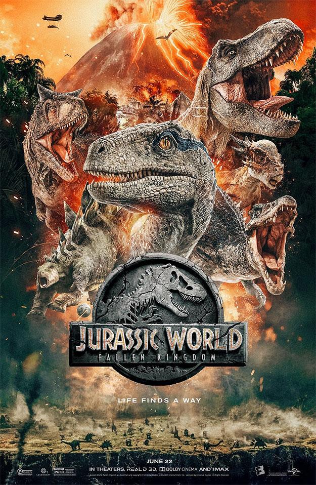 Cartel molón de Jurassic World: el reino caído