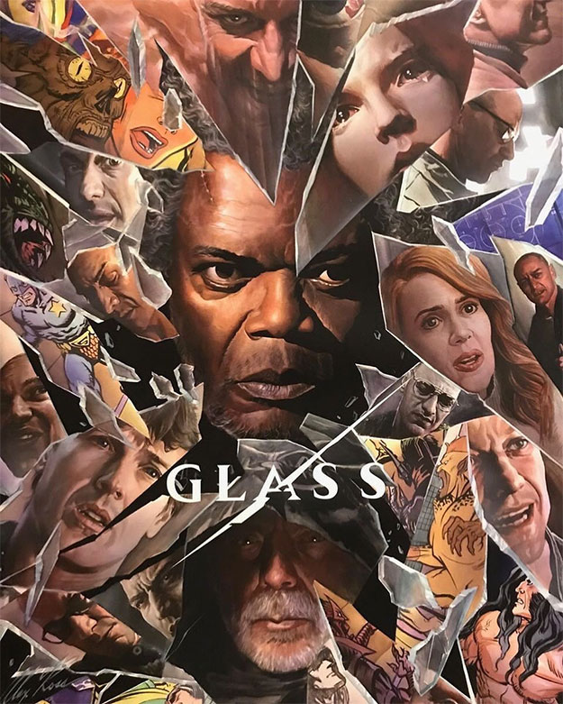 Cartel de Glass para la Comic-Con de San Diego... por Alex Ross